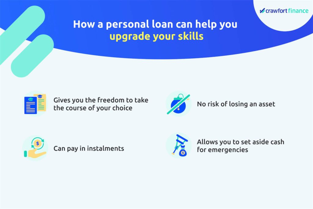 Infographic on how a personal loan in Singapore can help with your skills upgrading