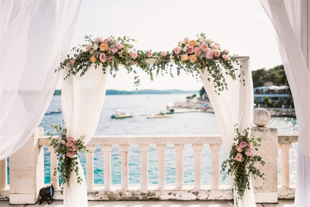Wedding arch by the seaside