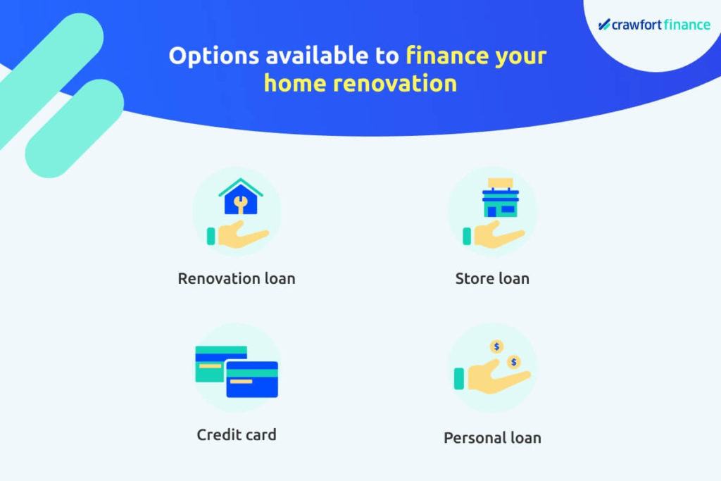 Infographic on financing options for your home renovation, including a personal loan in Singapore