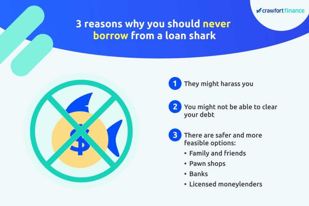 infographic on why you should not borrow from a loan shark in Singapore